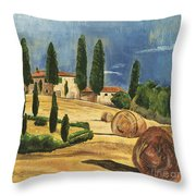 Tuscan Dream 2 Throw Pillow by Debbie DeWitt