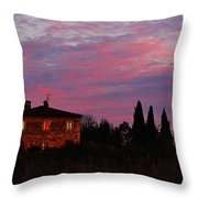 Tuscan Farmhouse And Morning Glow Throw Pillow