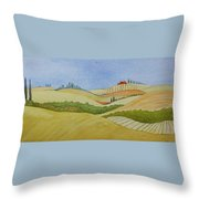Tuscan Hillside Two Throw Pillow by Mary Ellen Mueller Legault