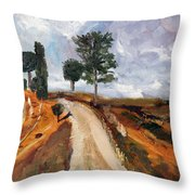 Tuscan Road Throw Pillow