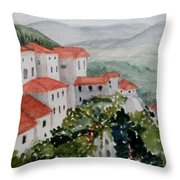 Tuscan Roof  Tops Throw Pillow