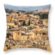 Tuscan Rooftops Siena Throw Pillow