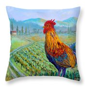 Tuscan Rooster Throw Pillow