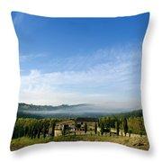 Tuscan Sky Vineyard Throw Pillow