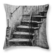 Tuscan Staircase Bw Throw Pillow