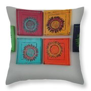 Tuscan Sunflowers Throw Pillow