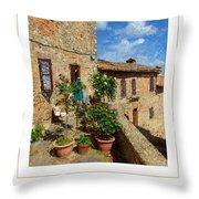 Tuscan Terrace Poster Throw Pillow