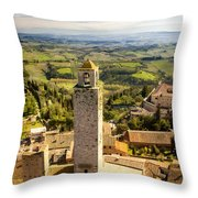 Tuscan Tower Throw Pillow