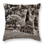 Tuscan Vinyard Throw Pillow