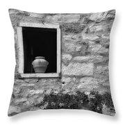 Tuscan Window And Pot Throw Pillow