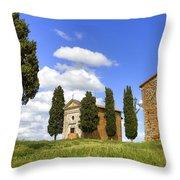 Tuscany - Cappella Di Vitaleta Throw Pillow