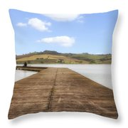 Tuscany - Lago Di Chiusi Throw Pillow