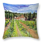 Tuscany Afternoon Throw Pillow