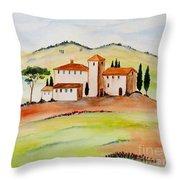 Tuscany-again And Again Throw Pillow