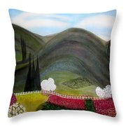Tuscany Garden Throw Pillow