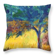 Tuscany Hill Side Shadows Throw Pillow