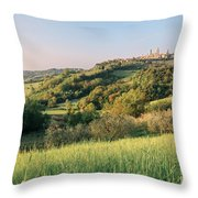 Springtime In Tuscany Throw Pillow