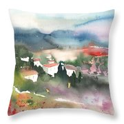 Tuscany Landscape 01 Throw Pillow