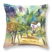 Tuscany Landscape 05 Throw Pillow