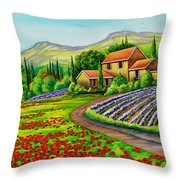 Tuscany Lavender  Throw Pillow