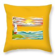 Tuscany Sea Throw Pillow