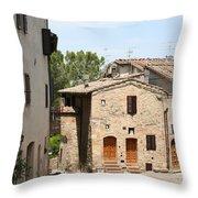 Tuscany Street Throw Pillow