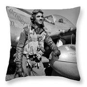 Tuskegee Airman Throw Pillow