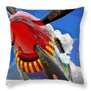 Tuskegee Airmen Fighter Plane Throw Pillow