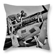 Tuskegee Mechanics Throw Pillow