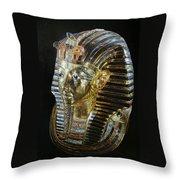 Tutankamon's Golden Mask Throw Pillow