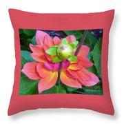 Tutu Dancer Flower Throw Pillow