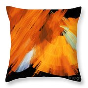 Tutu Stage Left Abstract Orange Throw Pillow by Andee Design