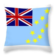 Tuvalu Flag Throw Pillow
