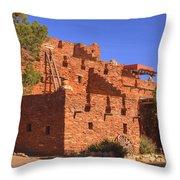 Tuzigoot Museum And Ruins Arizona Throw Pillow