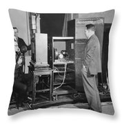 Tv Demonstration At Bell Labs Throw Pillow