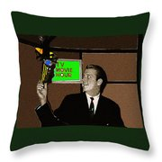 Tv Movie Hour Jake Crellin Kvoa Tv 1962 Sepia Toned Color Drawing Added 2009 Throw Pillow