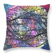 Tween The Branches Throw Pillow