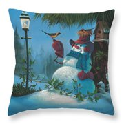 Tweet Dreams Throw Pillow by Michael Humphries
