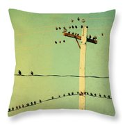 Tweeters Tweeting Throw Pillow