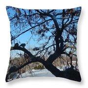 Twelve Doves Throw Pillow