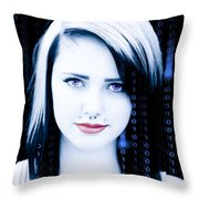 Twenty First Century Girl Throw Pillow