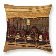 Twenty-mule Team In Sepia Throw Pillow