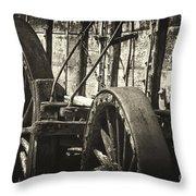 Twenty Mule Team Ore Wagon Throw Pillow