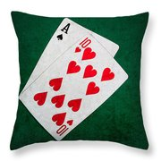 Twenty One 1 - Square Throw Pillow