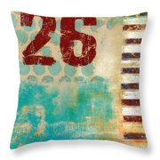 Twenty-six Stripes Throw Pillow