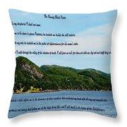 Twenty Third Psalm And Mountains Throw Pillow