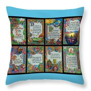 Twenty Third Psalm Collage 2 Throw Pillow