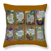 Twenty Third Psalm Collage Throw Pillow