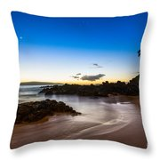 Twilight Beach - Beautiful And Secluded Secret Beach In Maui. Throw Pillow
