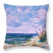 Twilight Beach Throw Pillow by Donna Proctor